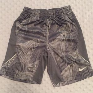 Nike dry fit shorts gray and white